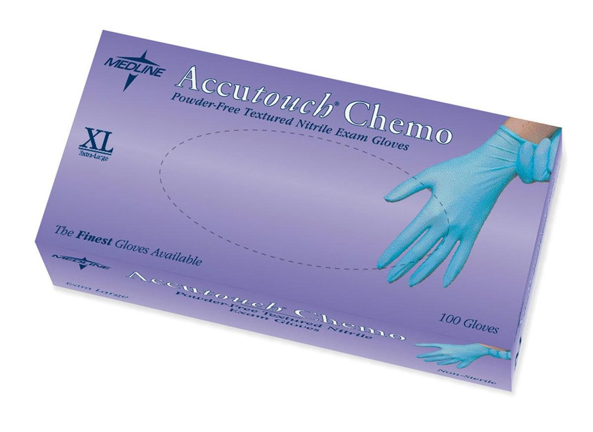 Medline MDS192087 Accutouch Chemo Nitrile Exam Gloves, Latex Free, 9.5 Length, X-Large, Blue (Pack of 1000) by Medline B00AHZ8488