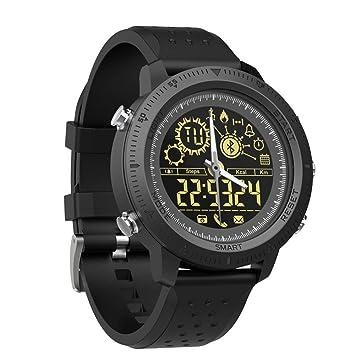 WCPZJS NX02 Reloj Inteligente Podómetro Calorías a Distancia Cronómetro Rastreador de Ejercicios Recordatorio de Llamadas Remoto Cámara 5ATM Reloj de ...