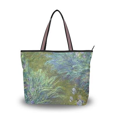 Amazon.com: wihve lirios Monet Art pinturas al óleo de mujer ...