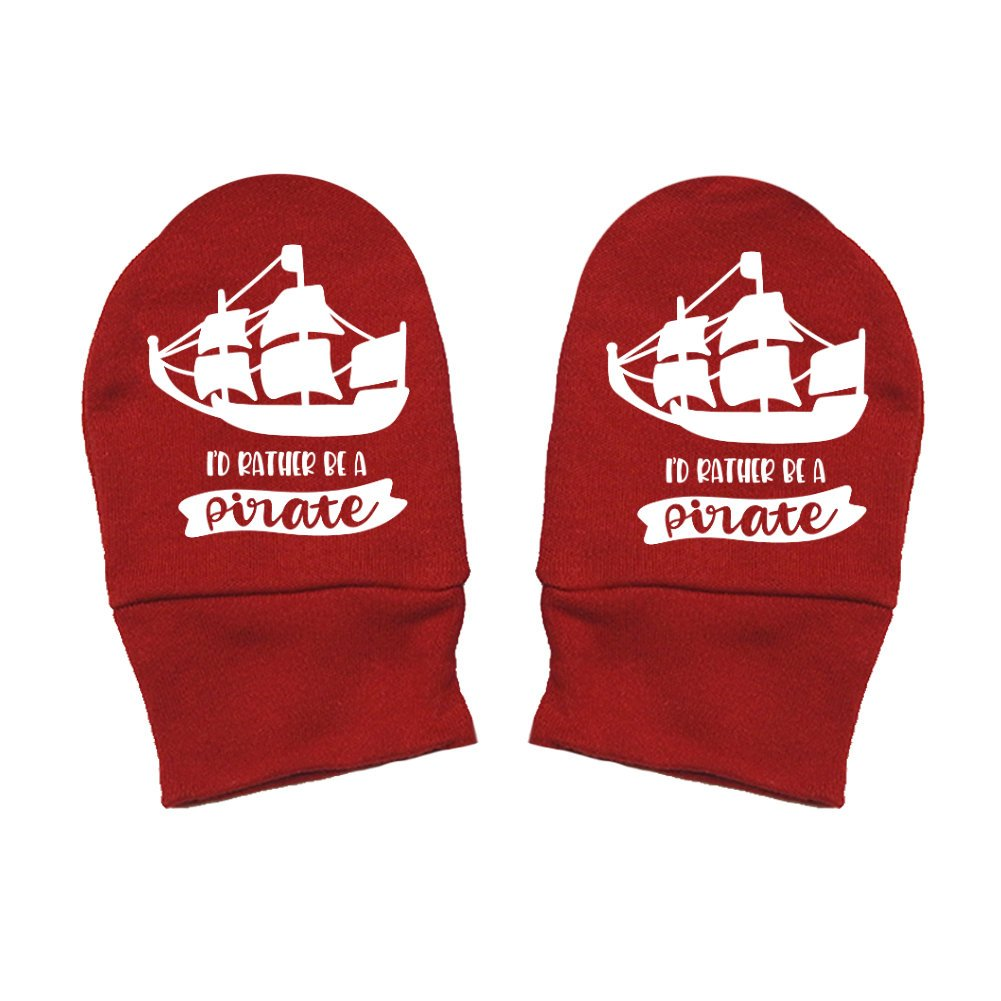 Id Rather Be A Pirate Fun /& Trendy Mashed Clothing Unisex-Baby Thick /& Soft Baby Mittens Thick Premium