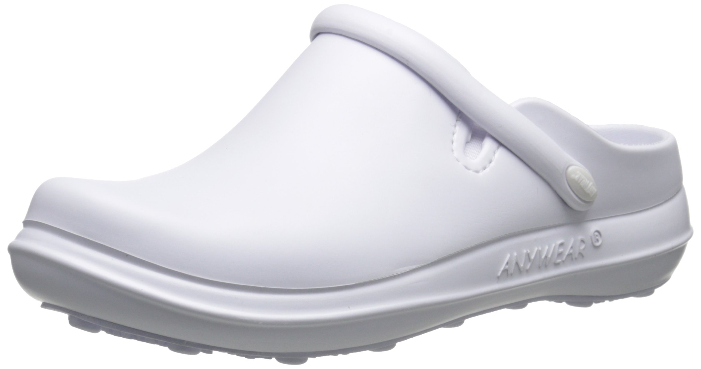 AnyWear Women's Alexis Health Care and Food Service Shoe, White, 9 M US
