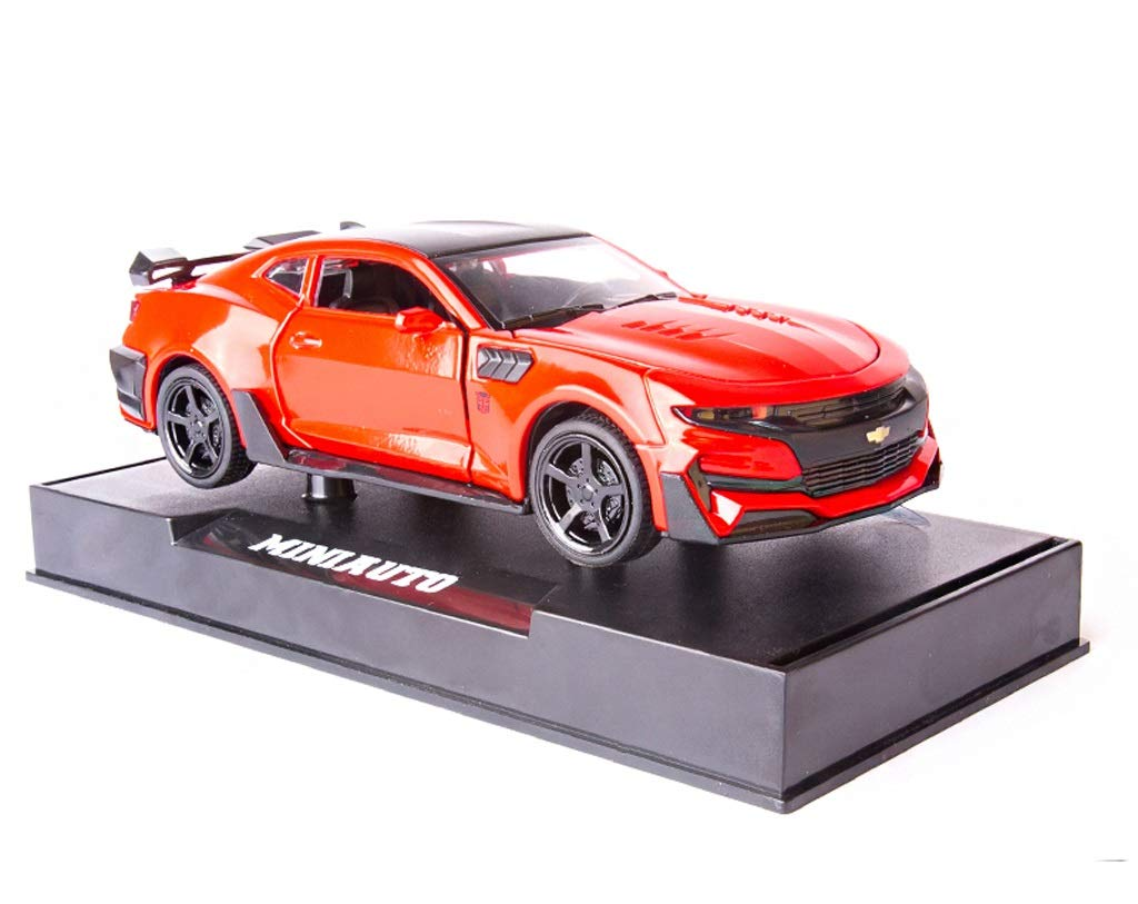GYZS-TOY Chevrolet Camaro Bumblebee Alloy Car Modelo Toy Car Simulación Car Model Toy Car (Color : Red)
