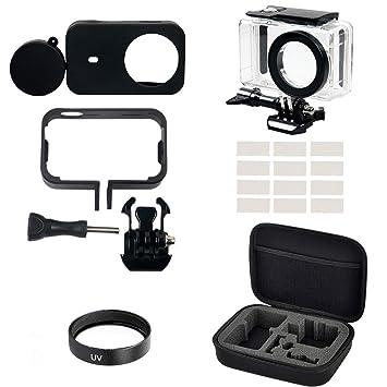 Eyeon Kit Accesorios 6 en 1 Carcasa impermeable con Funda Silicona, Cubierta Silicona + Tapa para Lente, Filtro UV, Inserciones Antivaho, Bolsa de ...