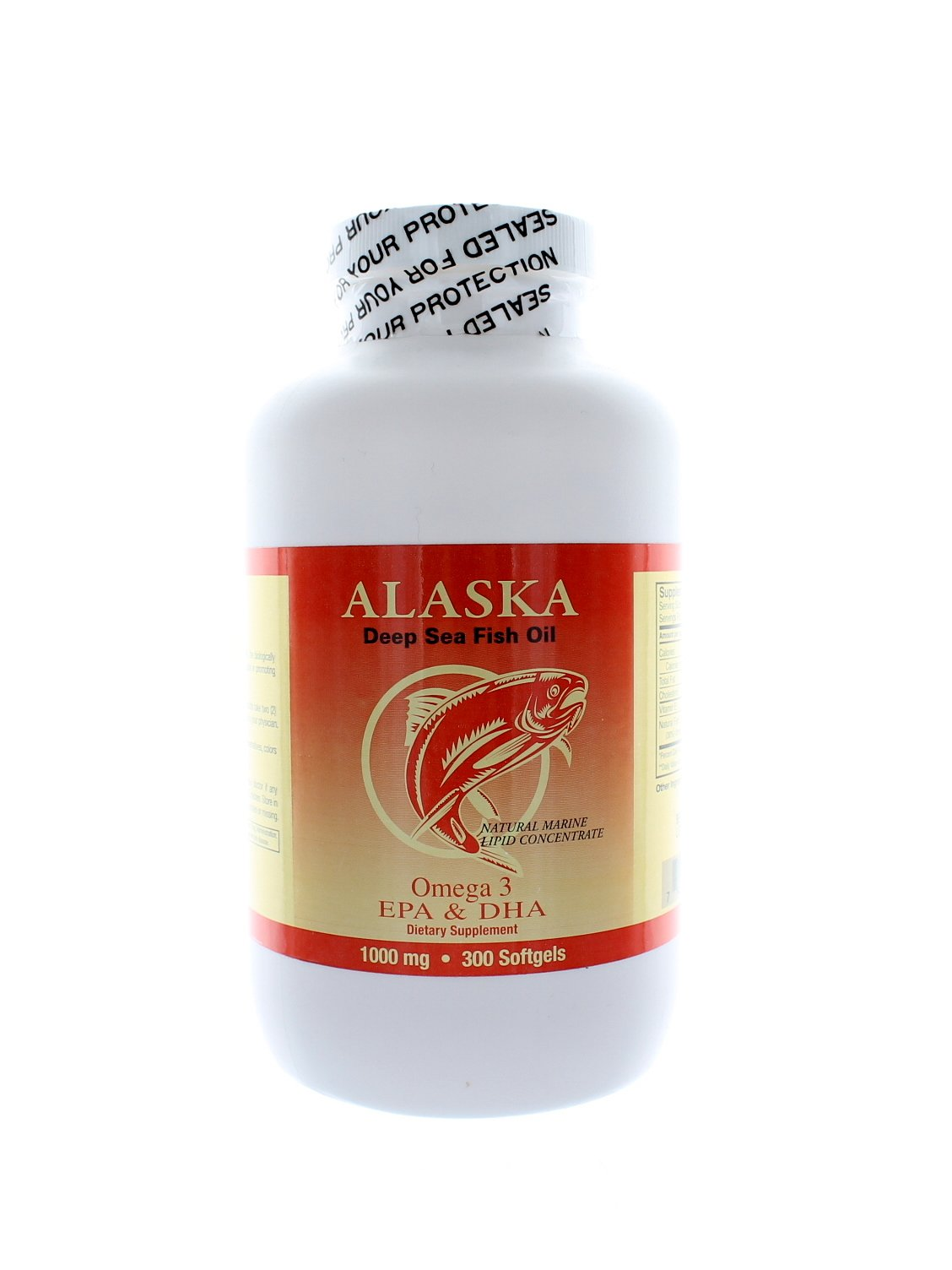 NCB Alaska Deep Sea Fish Oil, Omega 3 1000mg 300 Softgels by NCB (Image #1)