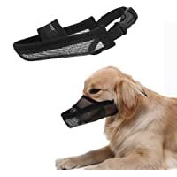 Crazy Felix Nylon Dog Muzzle for Small Medium Large Dogs, Air Mesh Breathable and Drinkable Pet Muzzle for Anti-Biting…
