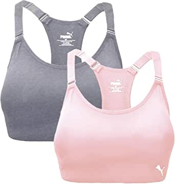 PUMA Womens Seamless Sports Bra with Removable Cups