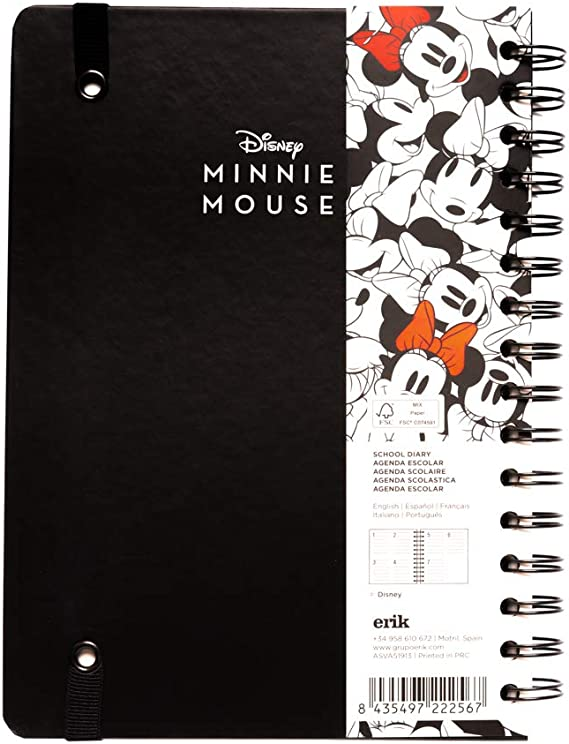 Agenda escolar 2019/2020 A5 12 meses Semana Vista Minnie Mouse ...