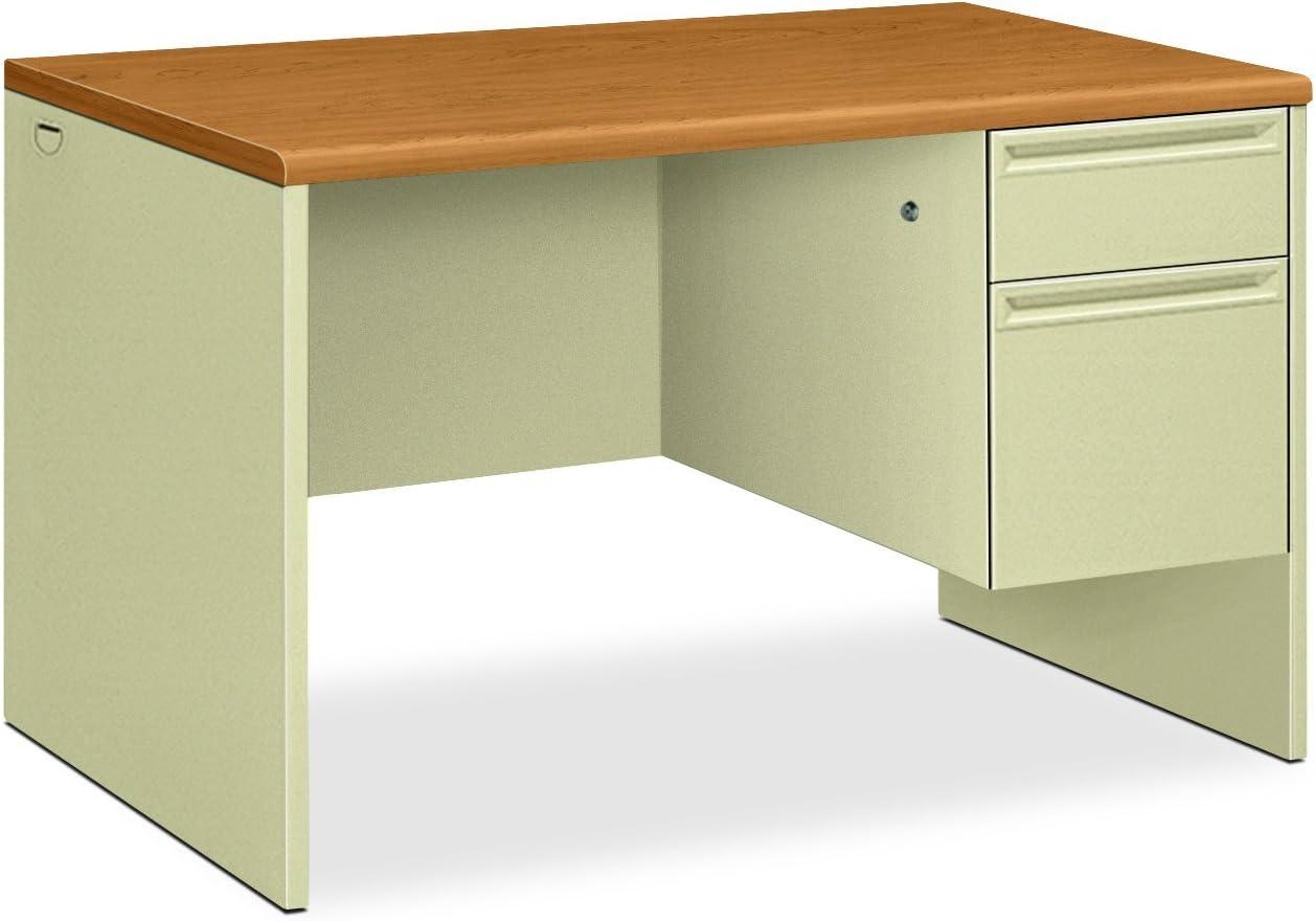 HON 38000 Series Right Pedestal Desk - Single Pedestal Small Office Desk, 48