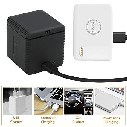 Cargador USB de 3 Canales Intbase para baterías GoPro Hero 5/6/7, Cargador portátil de 3 vías, Traje de Caja de Almacenamiento de batería de Triple ...
