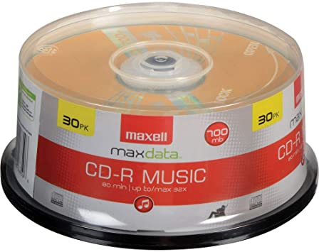 Maxell 625335 High-Sensitivity Recording Layer Recordable CD Audio Only 700mb//