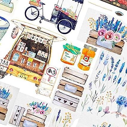 Vikenner Bullet Journal Stickers Buz/ón y flores DIY Scrapbooking Pegatinas para Scrapbook y Bullet Journal Papeler/ía Planificador Pegatinas Decoraci/ón 14.8 x 21 cm