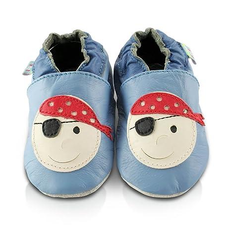 Chaussures En Cuir Souple Bébé Pirate 0-6 Mois DqAFfka0e
