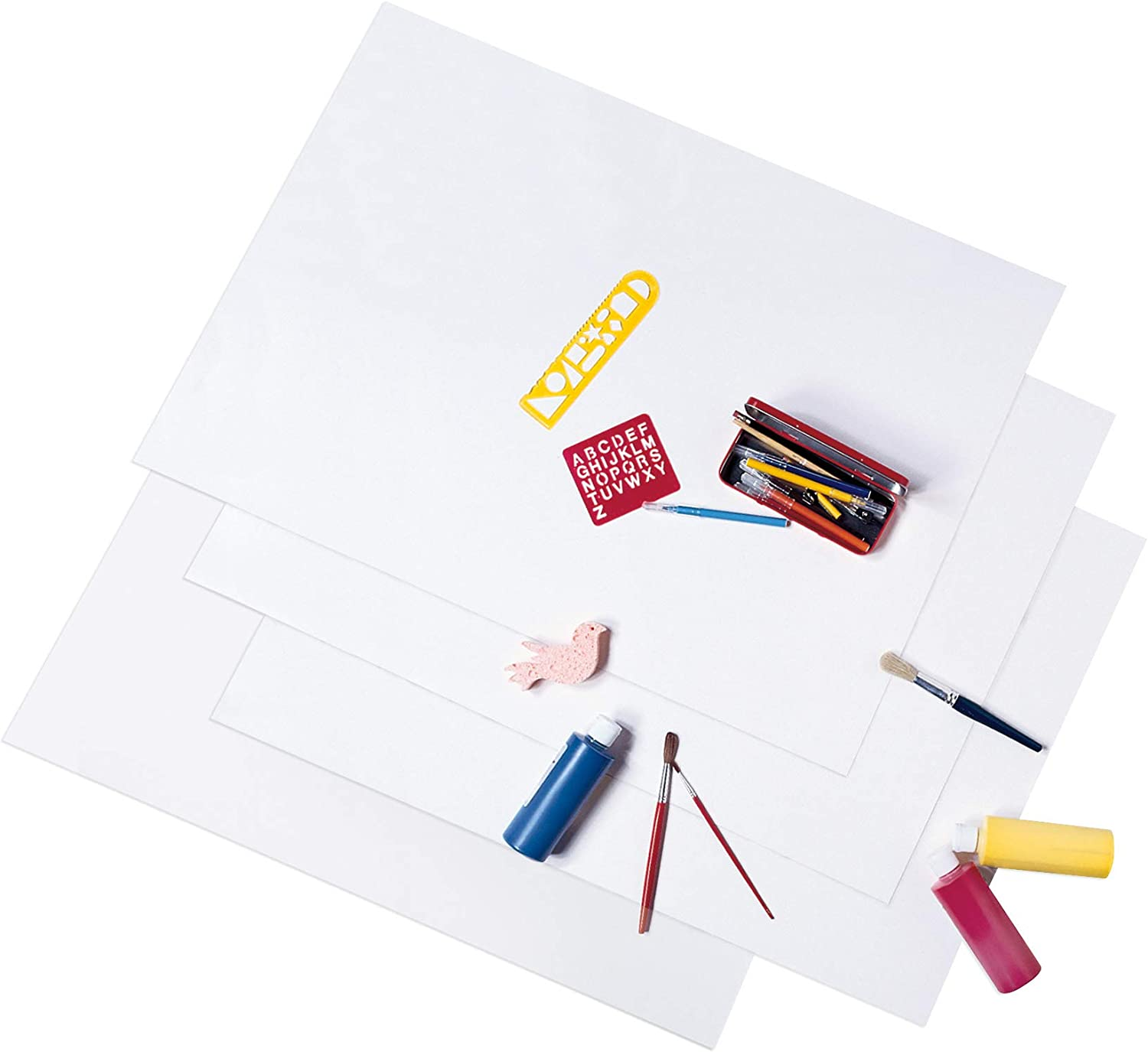 "UCreate Economy Poster Board, White, 22"" x 28"", 100 Sheets/Carton : Ordinary Display Boards : Office Products"