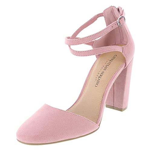 5af12c186bbb Christian Siriano for Payless Baked Pink Suede Women s Kam Cross Strap Pump  5 Regular