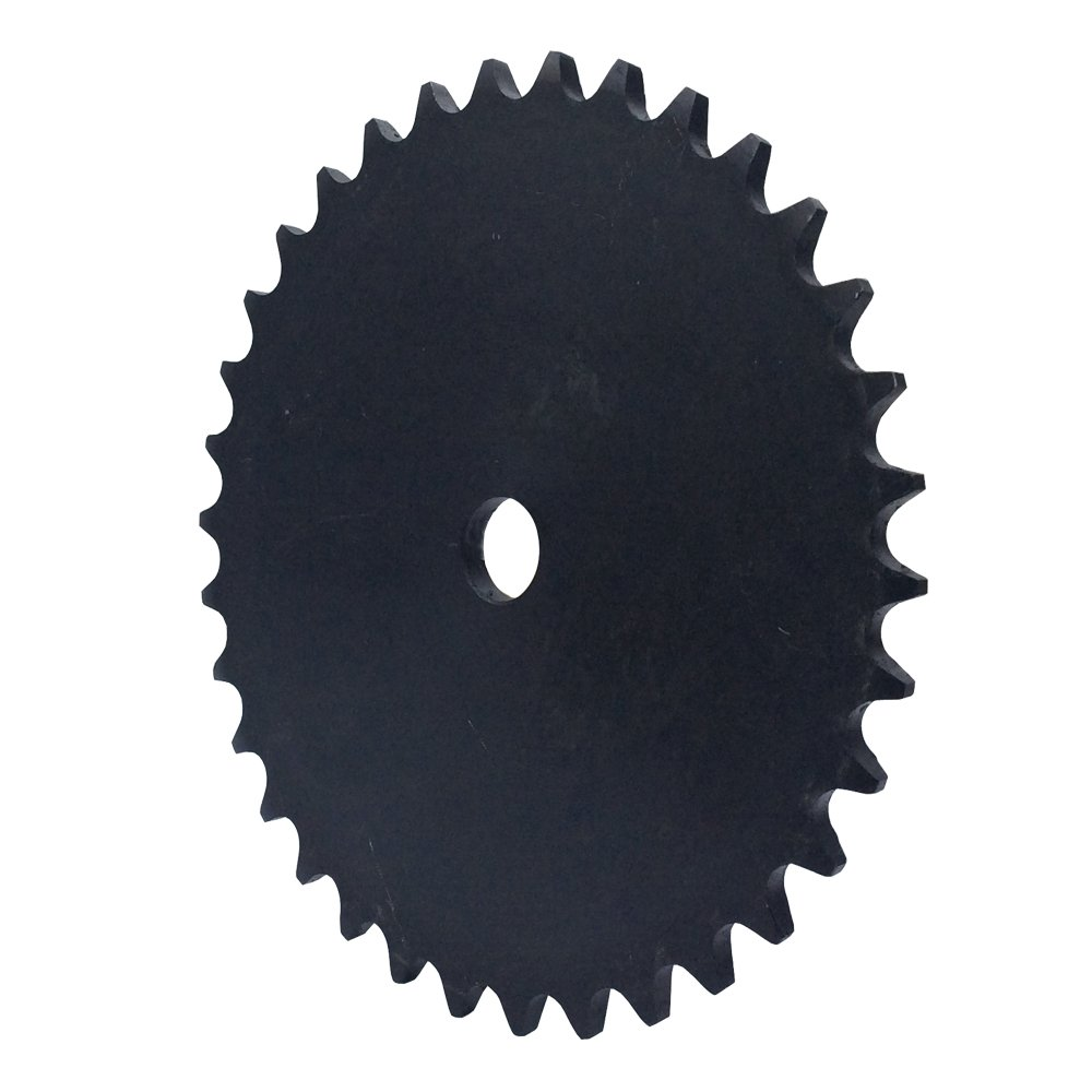 KOVPT # 40 Chain Plate Sprocket 49 Teeth Bore 0.719' Pitch 1/2' OD 8.088' Carbon Steel Black 1Pcs KANZNAN
