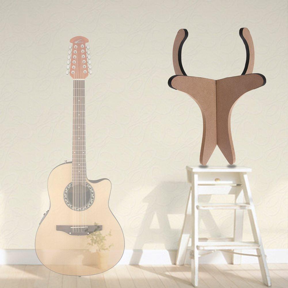 winnereco guitarra de madera ukelele función atril para ukelele violín soporte con forma de X para Guitarra Eléctrica Acústica: Amazon.es: Instrumentos ...