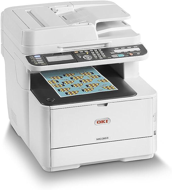 OKI MC363dnw - Equipo multifunción Color A4 con tecnología LED, Duplex, Velocidad 26 páginas/Minuto, Color Blanco