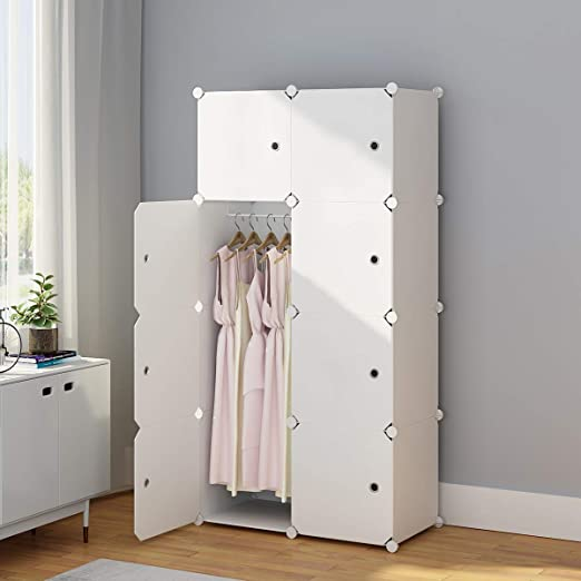 Amazon.com: KOUSI YG-12 - Armario portátil para ropa ...