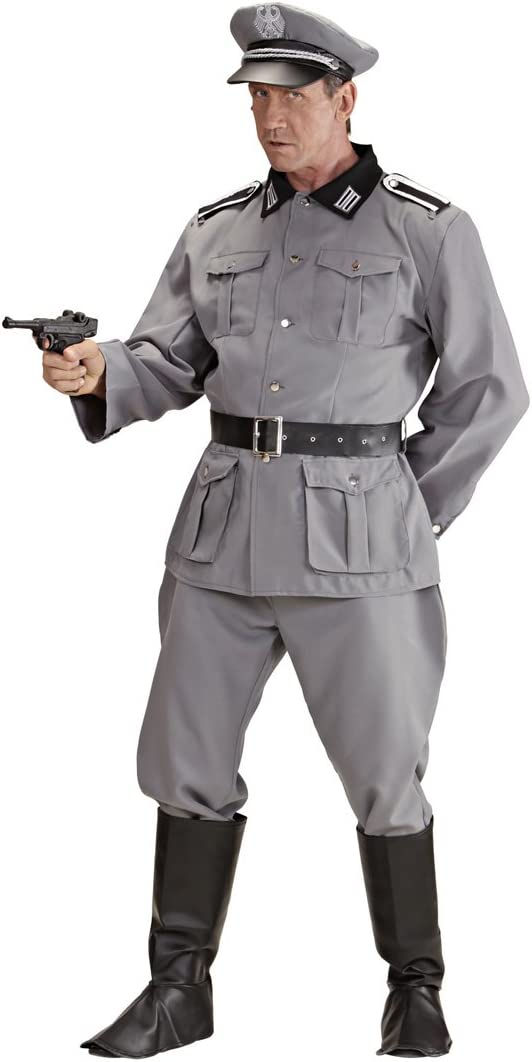 Men/'S Costume da Generale dell/'Esercito WW2-Costume adulto uomo Soldato Uniforme Guerra