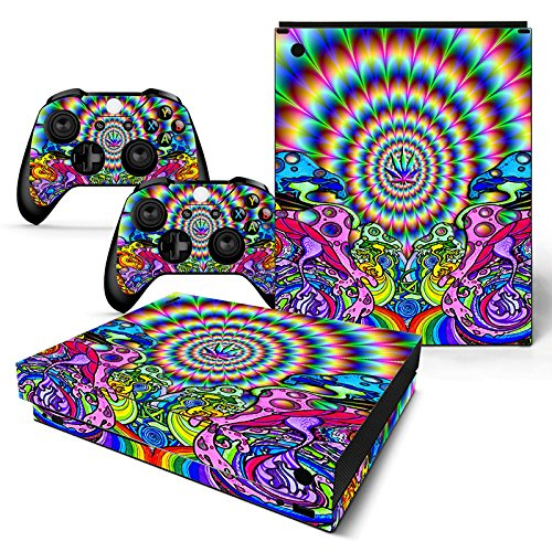 GoldenDeal Xbox One X Console and Wireless Controller Skin Set – Weed 420 – XboxOne X XOX Sticker Vinyl