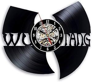 Wu Tang Clan Wall Clock Wu Tang Vinyl Wall Clock Vinyl Wall Clocks Wu Tang Poster Unique Art Wu Tang Accessories Handmade Retro Decor Clock Wall Clock Vintage