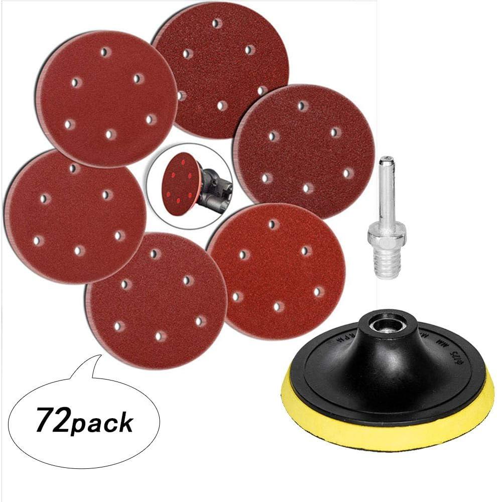 HIFROM - Adaptador de taladro M14, 5 pulgadas/4.921 in, 6 agujeros para lijadora orbital aleatoria