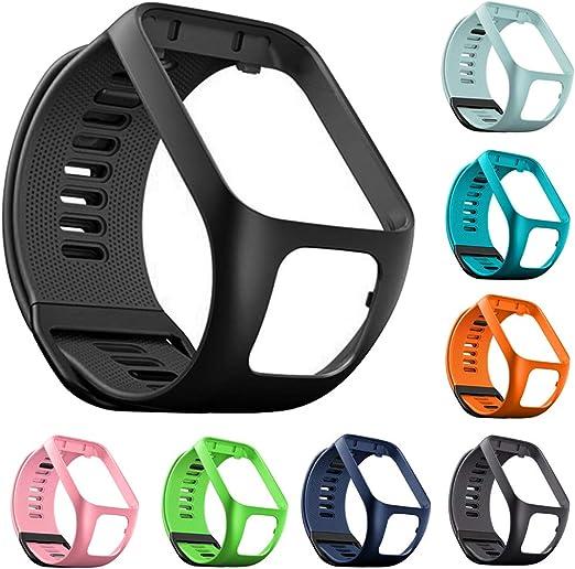 Bracelets de Montre en Silicone pour Montres Tomtom Runner 2 3 Bandes de Montre Adventurer Spark 3 Golfer 2 Compatible avec Les Bracelets de Montres Tomtom Spark 3