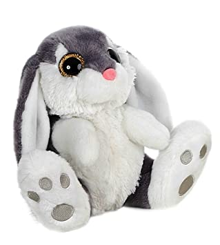 Rabbit sitting Plush toy 29cm Quality super soft - Color gray