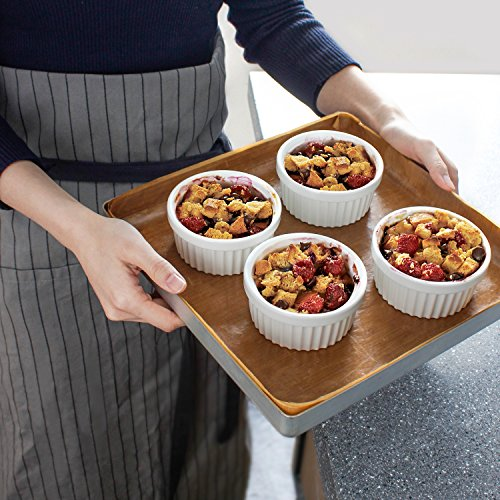 Sweese 5105 Porcelain Souffle Dishes, Ramekins - 8 Ounce for Souffle, Creme Brulee and Ice Cream - Set of 6, White by Sweese (Image #4)