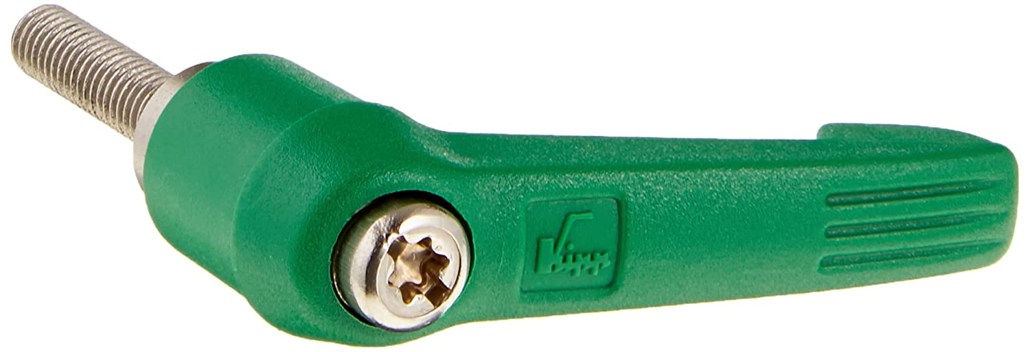 Stainless Steel Components Metric Kipp 06611-10586X20 Fiberglass Reinforced Plastic//Steel Adjustable Handle with M5 External Thread 20 mm Screw Length K0270.10586X20 MPAL66M11105GX20 Novo/·Grip Style Size 1 Signal Green Color KIPP Inc