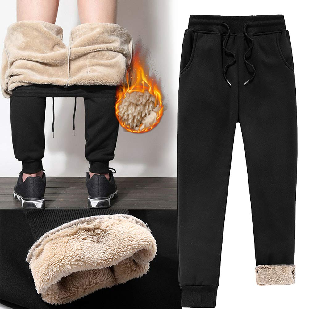 Deysen Mens Sherpa Fleece Lined Athletic Sweatpants Thick Athletic ...