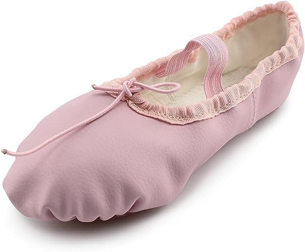 Amazon.com: MSMAX - Zapatos de baile de cuero para niños y ...