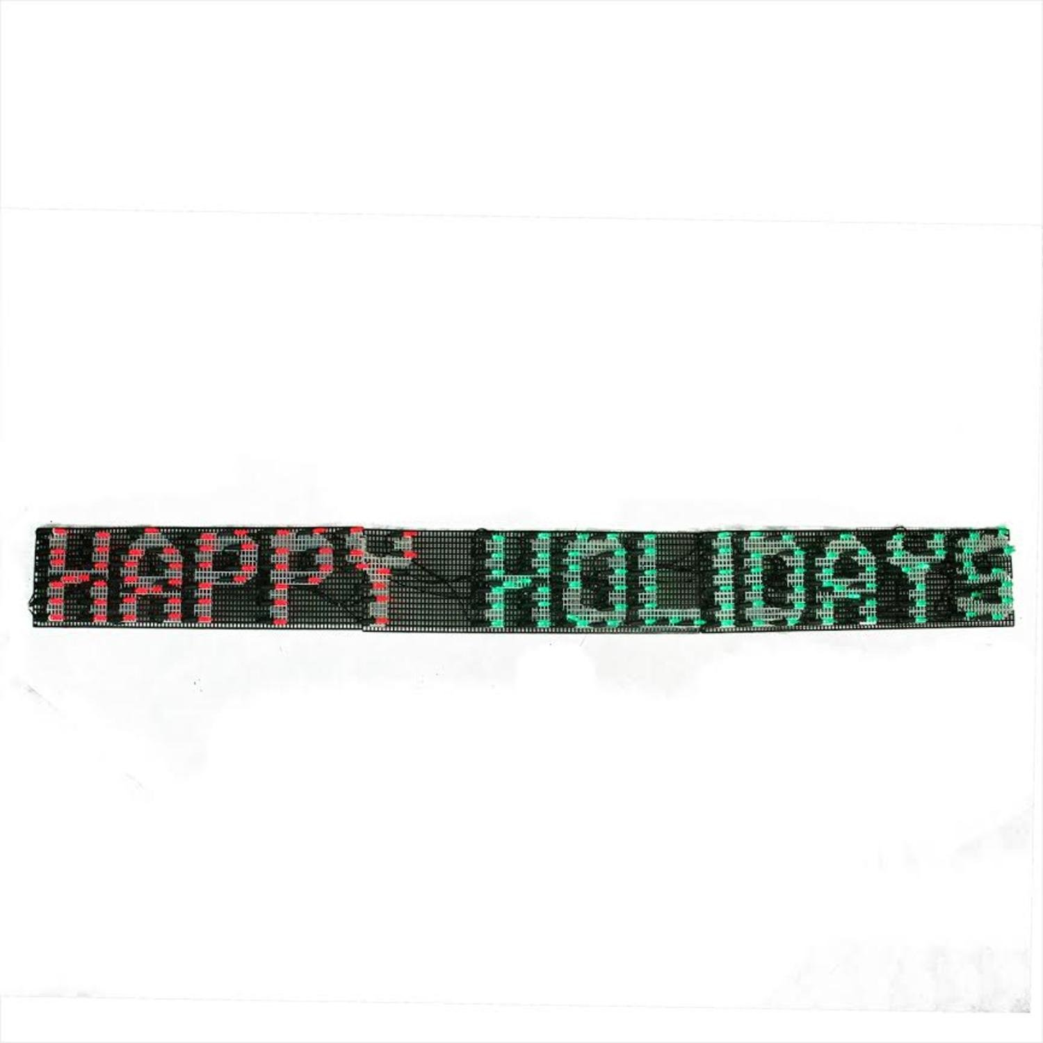 Sienna 60'' x 6'' Happy Holidays LED Lighted Christmas Banner - Red and Green Lights