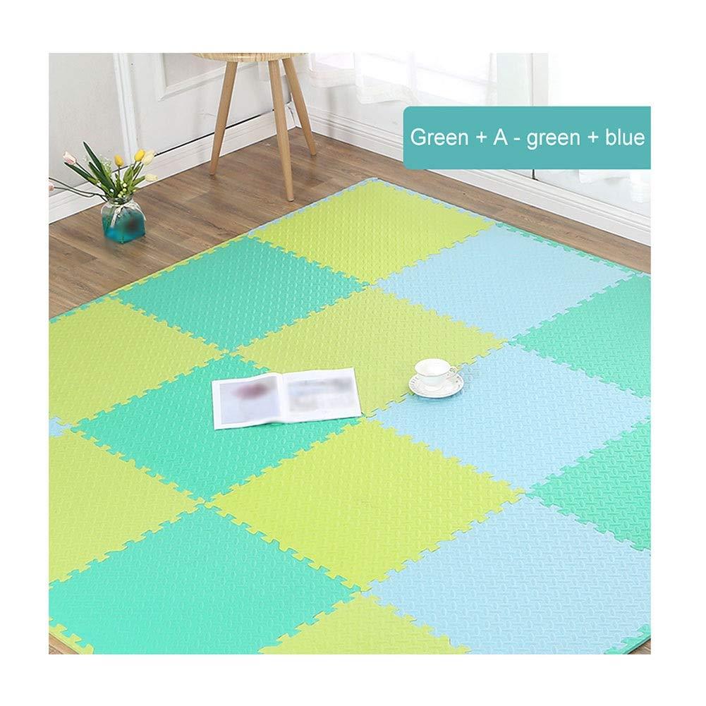 D 15-Tiles AWSAD Tappetino Gioco Puzzle S uma Neonati con Bordo Morbido Confortevole Scuola Fabbriche Stuoia Strisciante, Coloreee Multiplo, 60x60x2.5cm (Coloree   H, Dimensione   4-Tiles)