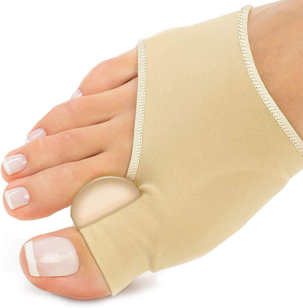 PediDoc Bunion Corrector – Bunion Relief Sleeves Bunion Pads Brace Cushions Toe Straightener with Gel Toe Separator, Spacer, Straightener and Spreader – Hallux Valgus Relief Big Toe Alignment: Health & Personal Care