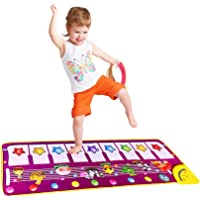 SGDD Piano Mat, Musical Piano Keyboard Dance Mat Carpet Baby Touch Play Animal Blanket Early Education Toys for Little Boys Girls Babies Toddler Gifts Xmas Presents Easter Gifts for Little Kids