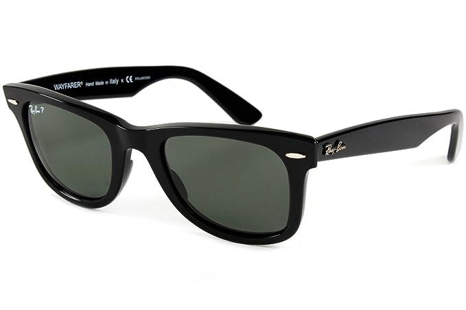 Ray-Ban Negro polarizado verde clásico del G-15 de 50 mm cuadrados CAMINANTE gafas de sol: Amazon.es: Ropa y accesorios
