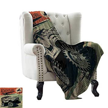 Amazon.com: LsWOW Flannel Blanket Adventure,Aged Damaged ...