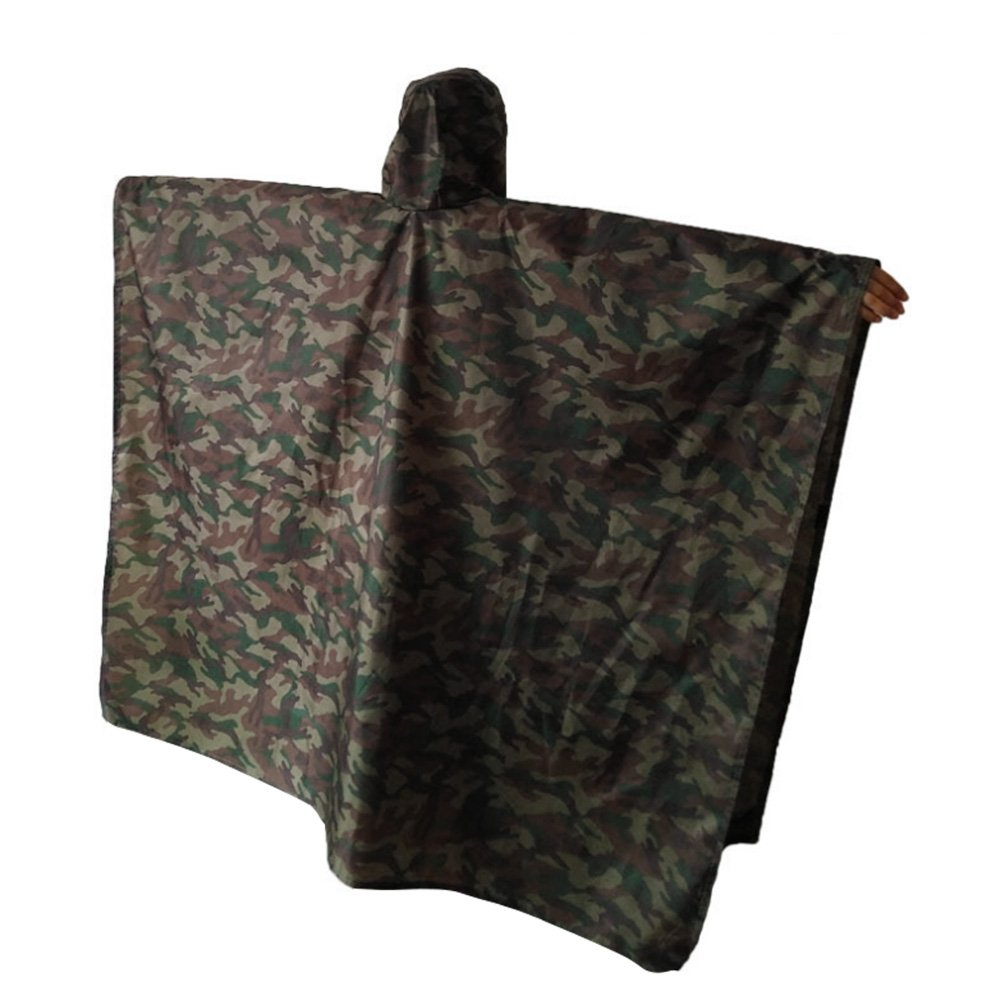 aokur Outdoor get more 3 in 1 waterproof military green camouflage portable raincoat
