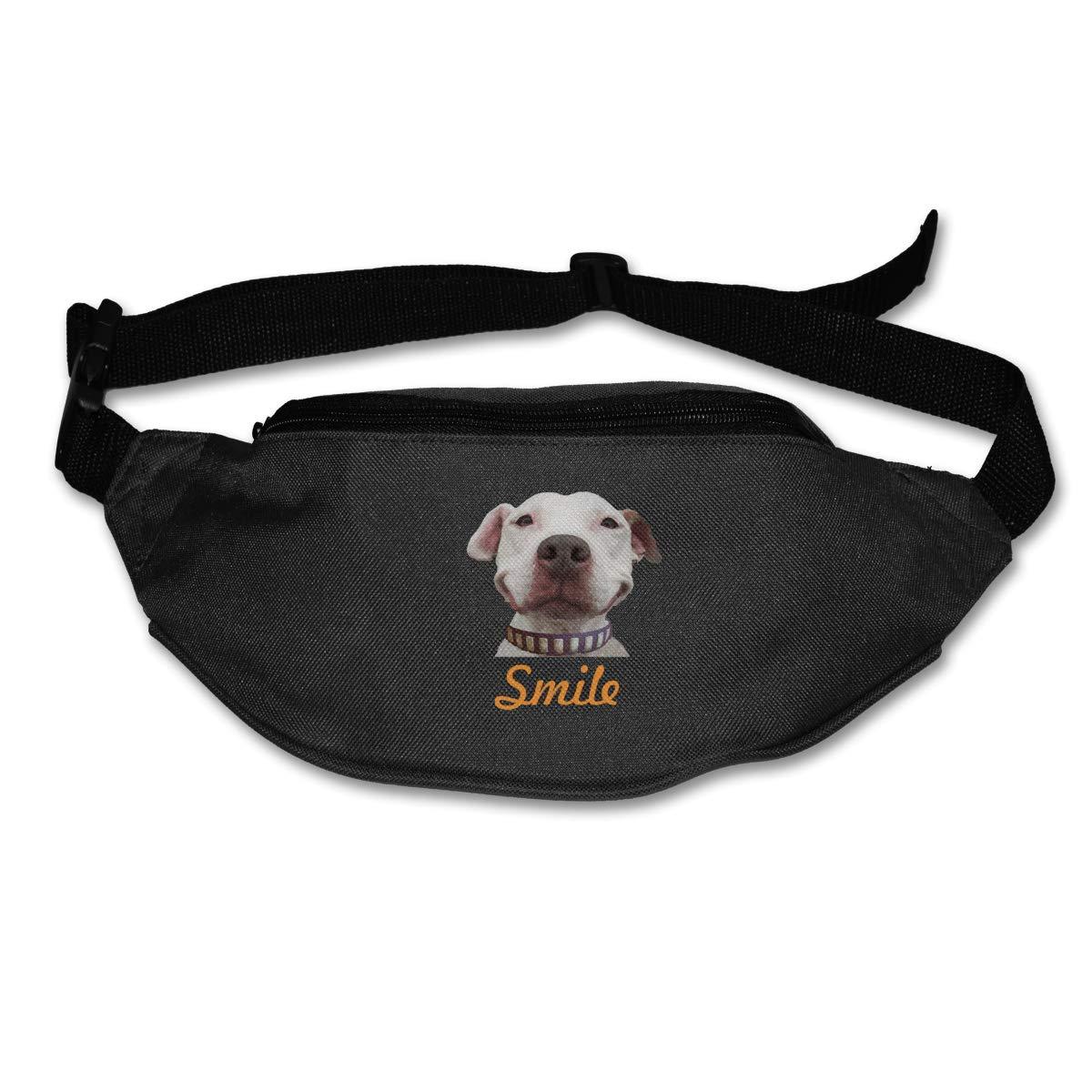 Smile Pit Bull Sport Waist Packs Fanny Pack Adjustable For Hike