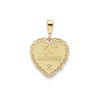 Amazon ice carats 14kt yellow gold 50th anniversary pendant ice carats 14kt yellow gold 50th anniversary pendant charm necklace special day fine jewelry ideal gifts aloadofball Gallery