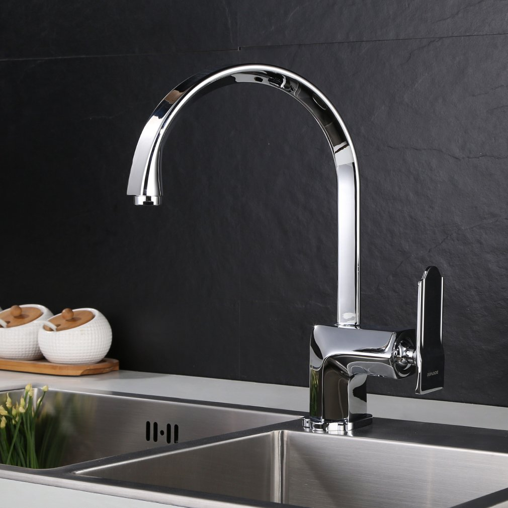 WOOHSE® 360 Grad Schwenkbar Küche Wasserhahn Elegant Heiß  Und Kaltwasser   Küchenarmatur Chrom Spültischarmatur Für Küche: Amazon.de: Baumarkt