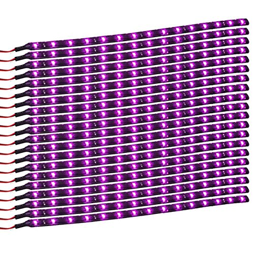 purple led lights car - 1