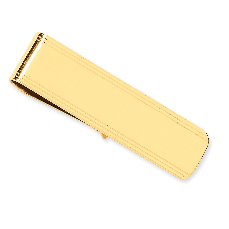 14 K黄色ゴールドお金クリップ B079Y6J3KY