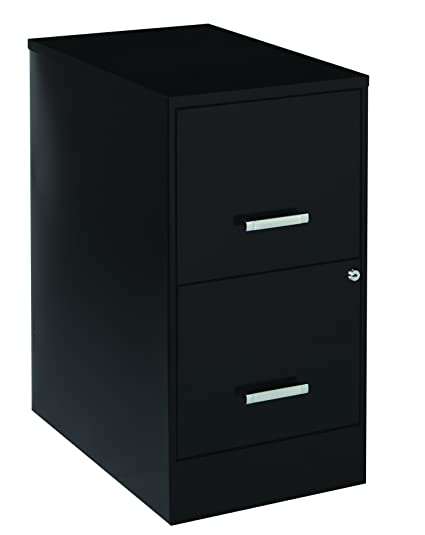 Merveilleux Office Dimensions 22u0026quot; Deep 2 Drawer Letter Sized Metal File Cabinet,  Black (