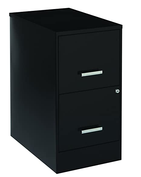 Amazon.com: Space Solutions 2-Drawer Metal File Cabinet with Lock ...