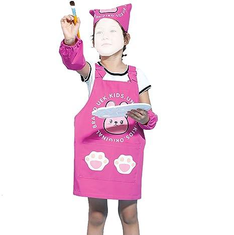 Grembiule Cucina Bambini Fai Da Te.Grembiule Per Bambini Foulard Polsino Tre In One Per