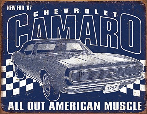 Camaro - 1967 Muscle Tin Sign 16 x 13in (Camaro Poster)