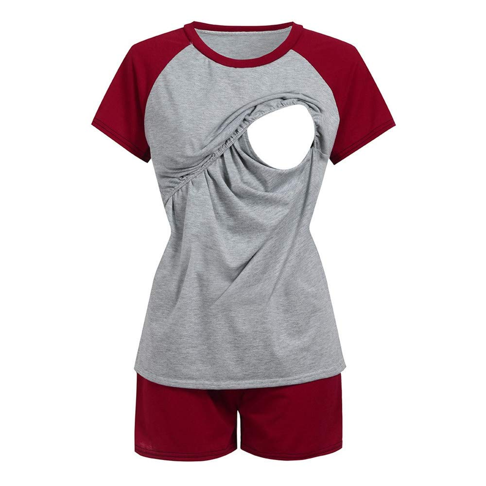 HCFKJ Womens Clothes Maternity Dress Coat Ladys Nursing Maternity Long Sleeves Stripe Breastfeeding Hoodie Sweatshirts