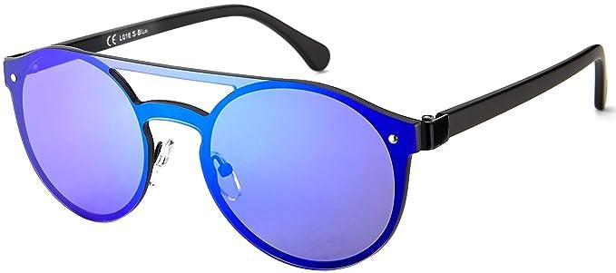 1572fcd945e4 La Optica BLM UV400 CAT 3 Unisex Damen Herren Sonnenbrille Rund Rahmenlos